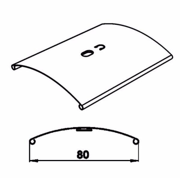 Наружные алюминиевые жалюзи C-80