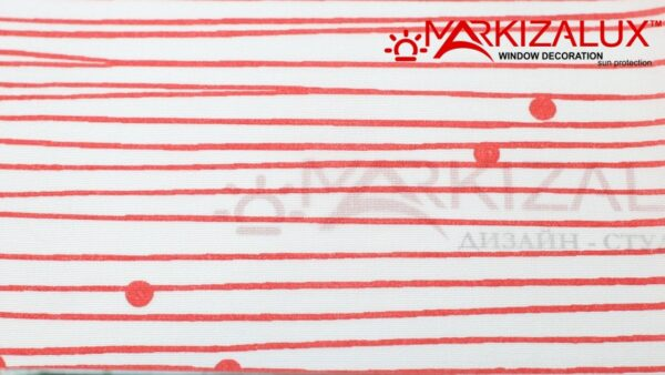 Дель Россо красный - ткань для тканевых ролет