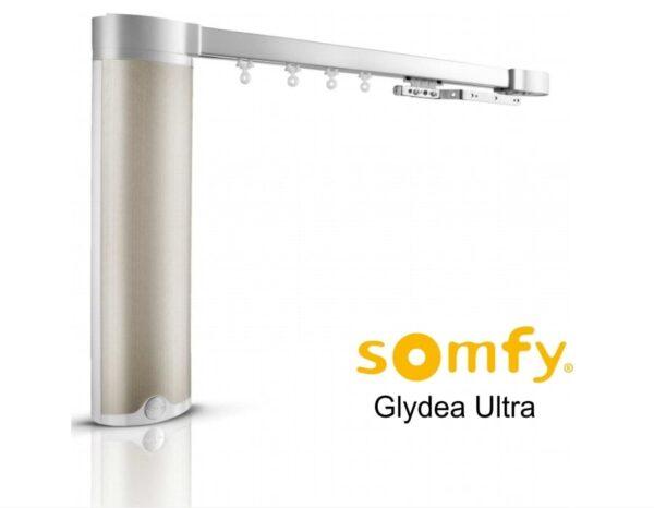 Электрокарниз тихий в сборе 1.5 м Somfy GLYDEA ULTRA 60e RTS / WTMIC / DCT