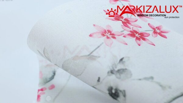 Флора розовый -  ткань для рулонных штор