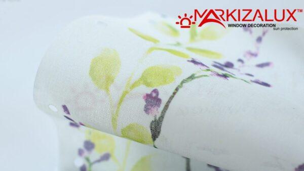 Флора васильковый-  ткань для рулонных штор