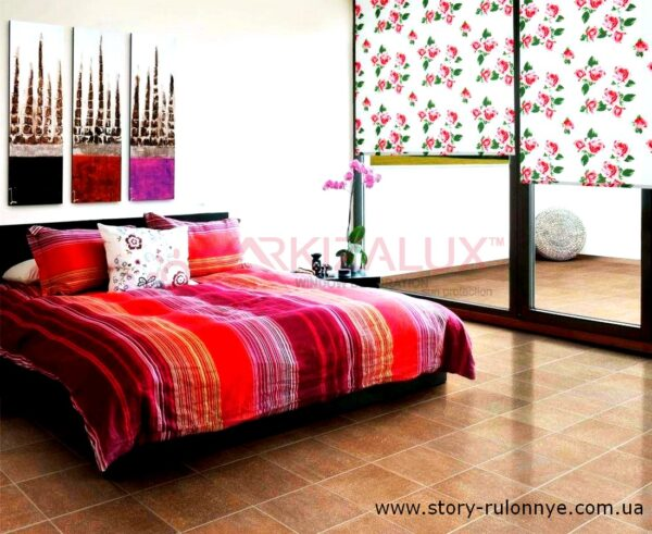 Глория розовый -  ткань для рулонных штор