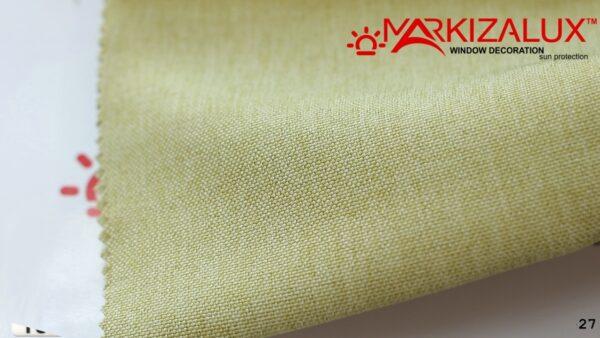 Римская штора из ткани Рогожка Грин - ткань