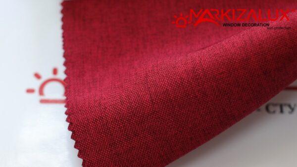 Римская штора из ткани Рогожка Коралл - ткань