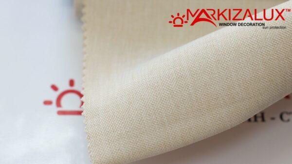 Римская штора из ткани Рогожка Слоновая кость - ткань