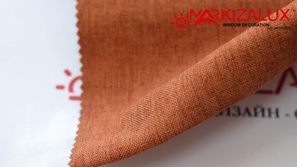 Римская штора из ткани Рогожка Кирпич - ткань