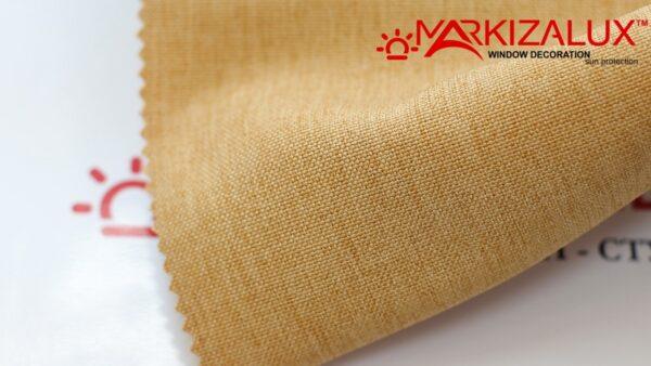 Римская штора из ткани Рогожка Горчичный - ткань