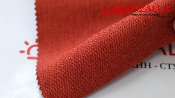 Римская штора из ткани Рогожка Марс (кирпичный) - ткань