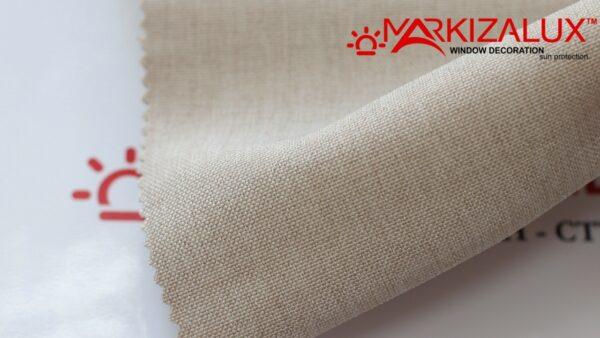 Римская штора из ткани Рогожка Пшеничный - ткань