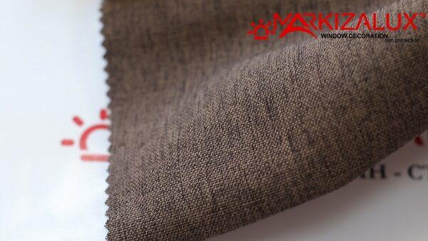 Римская штора из ткани Рогожка Брауни - ткань