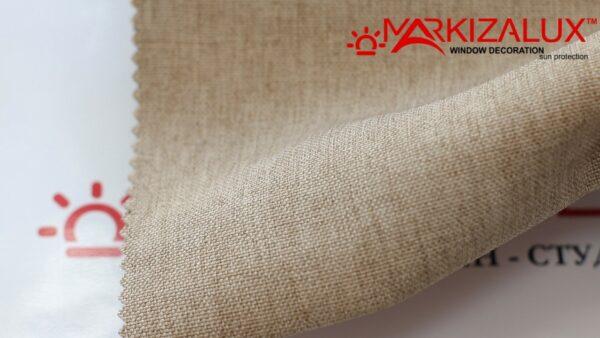 Римская штора из ткани Рогожка Латте - ткань