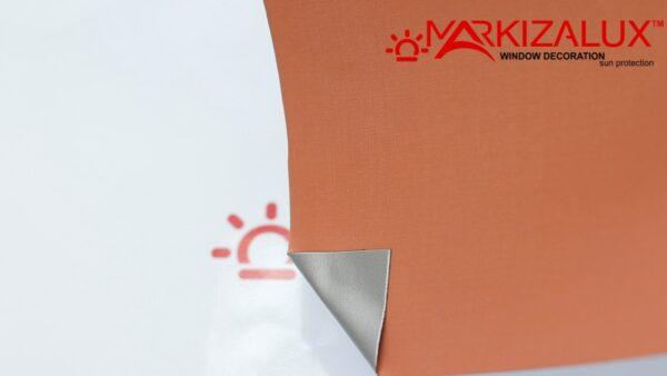 Шёлк blackout Alu коралл - ткань для тканевых ролет