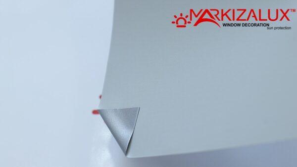 Шёлк blackout Alu серый - ткань для тканевых ролет