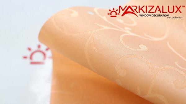 Вальс коралл - ткань для рольштор