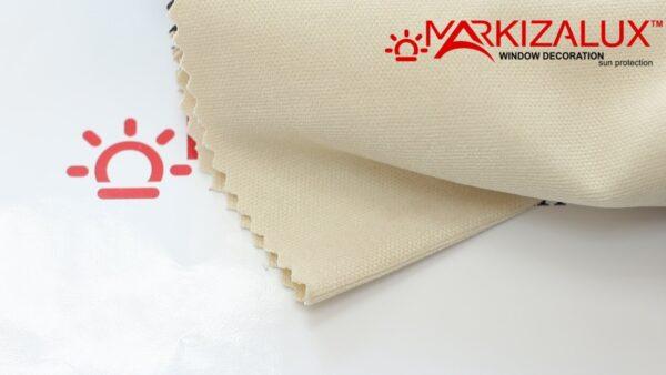 Римская штора из ткани Велюр Молочный - ткань