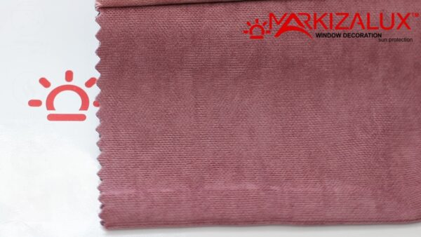 Римская штора из ткани Велюр Розовый - ткань