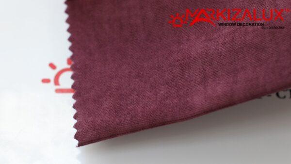 Римская штора из ткани Велюр Бордовый - ткань