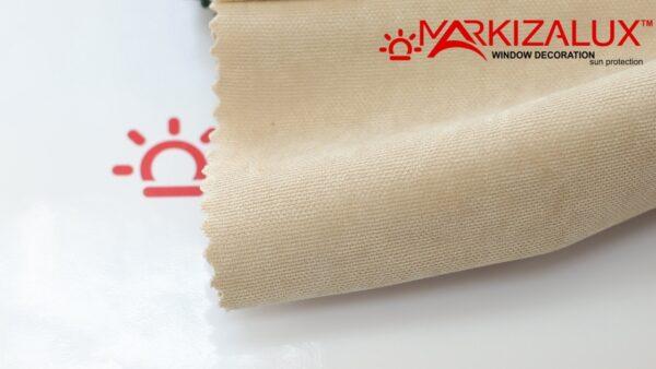 Римская штора из ткани Велюр Слоновая кость - ткань
