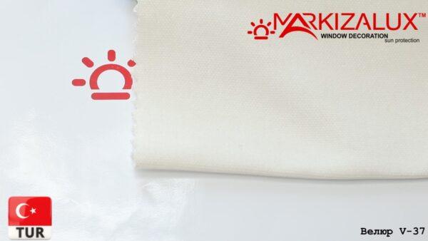Римская штора из ткани Велюр Жемчужный - ткань