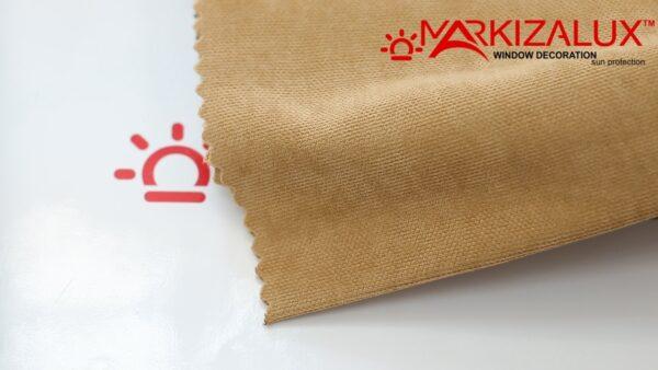 Римская штора из ткани Велюр Пшеница - ткань