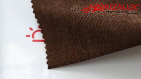 Римская штора из ткани Велюр Шоколад - ткань