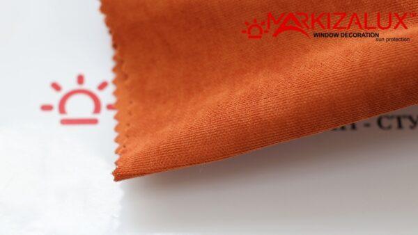 Римская штора из ткани Велюр Орэндж - ткань