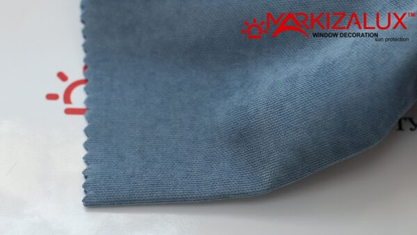 Римская штора из ткани Велюр Синева - ткань
