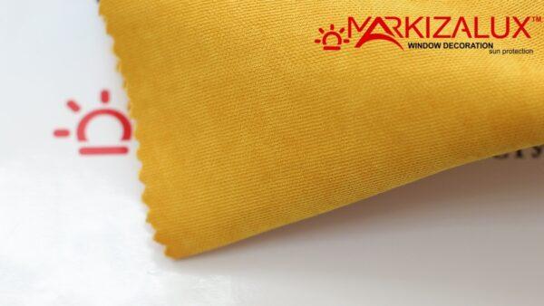 Римская штора из ткани Велюр Желтый - ткань