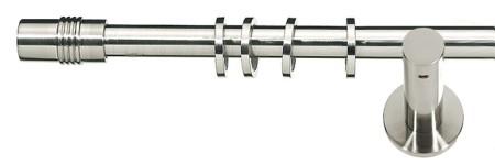 Карниз металлический в сборе с наконечником CYLINDER Marcin Dekor 16 мм