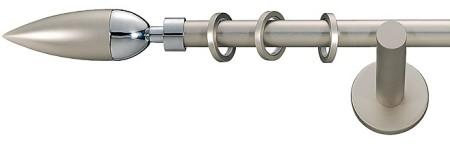 Карниз металлический в сборе с наконечником LINEA Marcin Dekor 16 мм