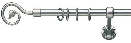 Карниз металлический в сборе с наконечником LUCCA Marcin Dekor 16 мм
