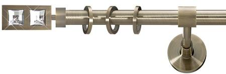 Карниз металлический в сборе с наконечником SIMPLE Marcin Dekor 25 мм