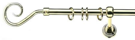 Карниз металлический в сборе с наконечником ZEUS Marcin Dekor 16 мм